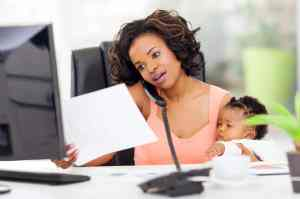 mother-infant-office-work-from-home