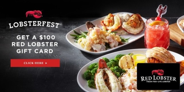 Get A $100 Red Lobster Gift Card